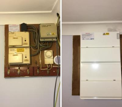 Installation of a Hager fuseboard in Beckenham